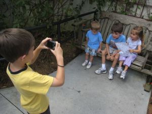 Budding photographers in our group